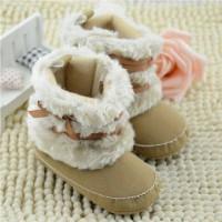 Prewalker Boots Bulu Brown : Sepatu Bayi , Sepatu Cewek
