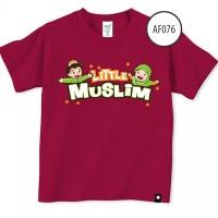 Baju Anak Afrakids Af076 - Little Muslim Lengan Pendek - Marun Sz.XL