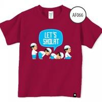 Baju Anak Afrakids Af066 - Let's Sholat - Marun - Sz. M, L