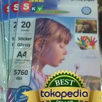 Kertas Foto Photo Paper Sticker Glossy Sky Stiker
