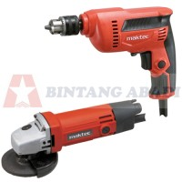 "Maktec Mesin Bor 10 Mm MT606 + Mesin Gerinda Tangan 4"" MT954"