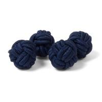 Silk Knot Blue Cufflink