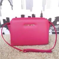 Michael Kors MK Selma Mini Messenger Pink Fuchsia