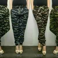 celana jogger/joger pants army- loreng cewe big size jumbo xxl/xxxl