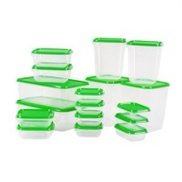 IKEA Pruta, kotak makanan / tupperware / container isi 17pcs