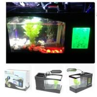 USB Desktop Aquarium Mini with Running Water Digital Display - LS0404