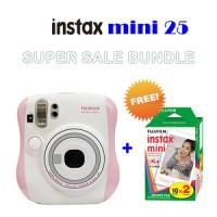Fujifilm Instax Polaroid Mini 25 Pink PAKET MURAH