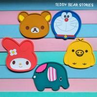 Tatakan Gelas Mug / Coaster Rilakkuma Doraemon My Melody