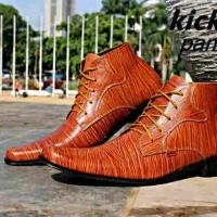 harga Sepatu Kerja Pantofel Kickers Kulit Asli Cowok Pria Tokopedia.com