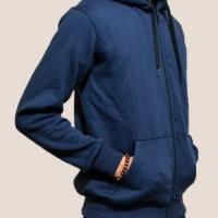 Jual Jaket Hoodie Zipper Polos Biru Navy Kualitas Distro Murah
