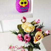 bunga plastik,bunga artificial,bunga,vintage,rose,shabby chic,mawar