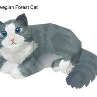 harga Norwegian Forrest Cat Papercraft Tokopedia.com