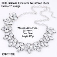 004a diamond decorated waterdrop shape forever 21 design kalung import