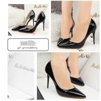 harga 70269 Black Heel PU 10.5cm Sepatu import wanita/high heels/batam Tokopedia.com