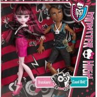 Monster High Draculaura & Clawd Wolf Doll - Mattel Original