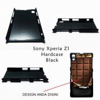 Sony Xperia Z1 Hardcase Black - Custom Case