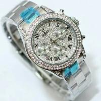 Jam Tangan Rolex Daytona Chrono Silver Kw Super