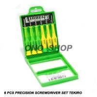 6 Pcs Precision Screwdriver Set Tekiro