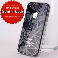 Screen Protector Film 3D Diamond iPhone 4 / 4s (Front + Back)
