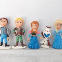 Jual Topper figure hiasan kue ulang tahun frozen kid set isi 5 Murah