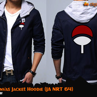 Uchiha Canvas Jacket Hoodie (Jaket Naruto - JA NRT 64)
