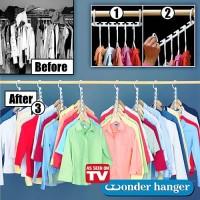 Wonder Hanger Magic Gantungan Baju Pakaian Isi 8 Pcs Door Lemari