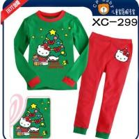 Baju Setelan Anak Piyama Natal Christmas Set Caluby Santa Hk