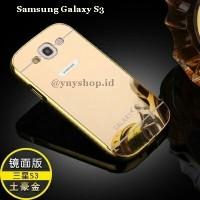 CASE SAMSUNG GALAXY S3 Aluminium bumper + pc mirror backcover