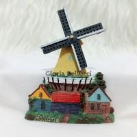 Magnet Kulkas Kincir Angin Belanda Holland Amsterdam