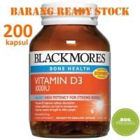 READY STOCK - Blackmores Vitamin D3 1000IU (200 tabs)
