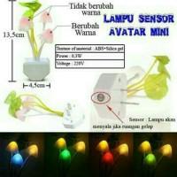 lampu tidur avatar  bunga jamur pake sensor cahaya