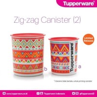 Tupperware Zig Zag Canister Toples ZigZag