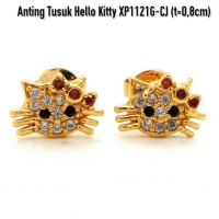 XP1121G-CJ Anting Tusuk Hello Kitty Perhiasan Lapis Emas Gold