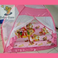 Jual kasur bayi/ kasur tenda kelambu pink bear Murah