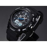 JAM TANGAN PRIA Ohsen Waterproof Quartz Digital Sport Watch