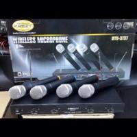 Mic Microphone Wireless Krezt DTD 3737 Professional 4 Ch Vokal Artis