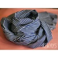 Jual Blue shawl hijab katun kain dingin murah mudah dipakai Murah