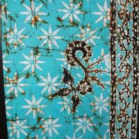 Batik Gajah Oling Biru langit Bunga melati