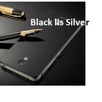 Aluminium Tempered Glass Hard Case for Xiaomi Redmi 2 - Black/Red