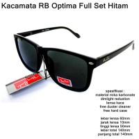 kacamata rb optima casual lenca kaca full set black