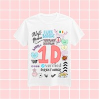 Jual 1D Tumblr Tee T-shirt / Kaos One Direction / Tshirt 1D Murah