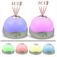 Magic 7 Color Change LED Projector Alarm Clock (White)
