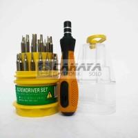 Obeng Set 31 in 1 Lengkap Handphone Jam Visero Magnet hp hape