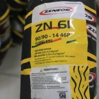 Ban Motor Tubeless Zeneos ukuran 90/90-14 ZN 61