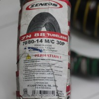 Ban Motor Tubeless Zeneos ukuran 70/80-14 ZN 88