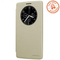 Harga Nillkin Sparkle Flip Case Cover LG G4 Stylus Gold Murah