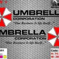 ea cutting sticker / decal Code: mi076b ( umbrella corporation )