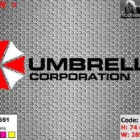 ea cutting sticker / decal Code: mi076a ( umbrella corporation )