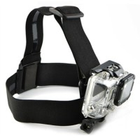 Elastic Adjustable Head Strap with Simple Anti-Slide Glue For GoPro