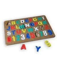 Jual Puzzle Alphabet Angka Premium, Mainan Edukatif Edukasi Anak Kayu Murah Murah